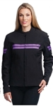 Women's Textile Motorcycle Jackets: Lightweight Purple