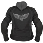 Women's Motorcycle Jacket Embroidered Hoodie