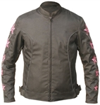 Women's Pink Star Motorcycle Jacket
