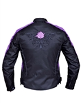 Ladies Textile Motorcycle Jacket - Purple Rose