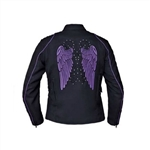 Women's Textile Motorcycle Jacket - Tribal Wings
