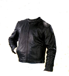 Lightweight Leather Mens Scooter Jacket