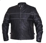 Men's Scooter Cowhide Leather Motorcycle Jacket