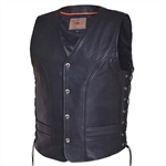 Best Cowhide Leather Motorcycle Vest, Unik Club Vest