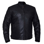Men's Leather Motorcycle Jacket - Naked Cowhide