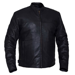 Men's Leather Motorcycle Jacket- Naked Cowhide