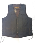 Brown Mens Leather Motorcycle Vest