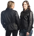 Quality Womens Leather Motorcycle Jacket - Vented