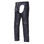 Premium Braided Leather Motorcycle Chaps