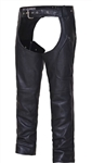 Unik Unisex Premium Leather Motorcycle Chaps: Deep Pockets