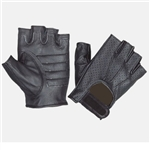 Women's Leather Motorcycle Gloves: Unik Fingerless