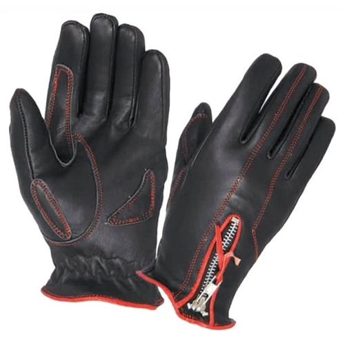Women S Leather Motorcycle Gloves Red Amp Black Winter Gloves