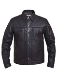 Men's Lightweight Leather Riding Shirt