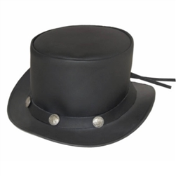 Black Leather Top Hat, Buffalo Nickel Band