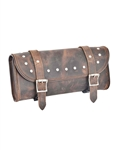 Unik Motorcycle Luggage - Distressed Brown Leather Tool Bag