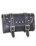 Unik Motorcycle Brown  Distressed Leather Tool Bag