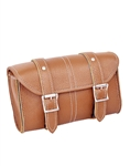 Unik Motorcycle Luggage - Light Brown Leather Tool Bag