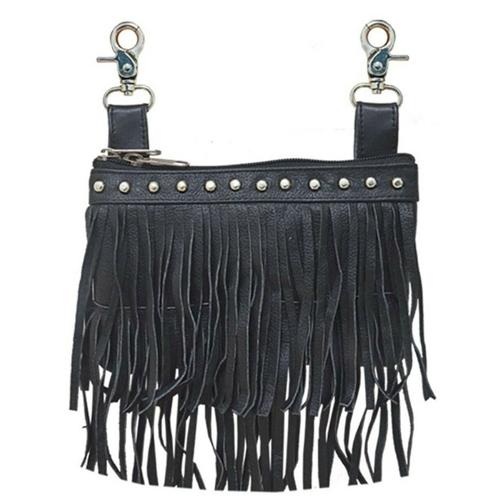 18a6f8d481f Double Fringe Leather Studded Hip Purse *On Sale*