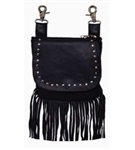Leather Fringe Biker Riding Purse