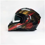 Gloss Red Serpiente Full Face Helmet, Voss Helmets