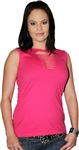Women's Biker Clothing: Sexy Hot Pink Tank Top