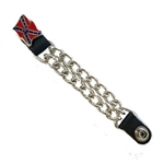 Rebel Flag Motorcycle Vest Extender Chains