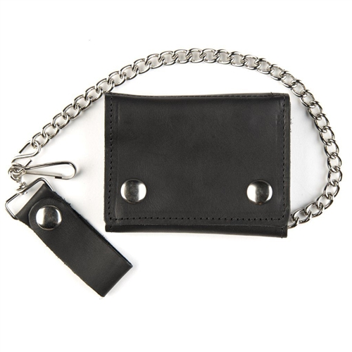00bc49db8156 Premium Leather Chain Wallets for Bikers - Deluxe Biker Tri-Fold