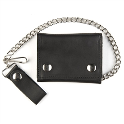 Leather Chain Wallets - Deluxe Biker Style