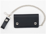 American Made Leather Chain Wallets: Biker Style