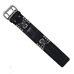 Mens Leather Biker Watch bands: Skull & Bones