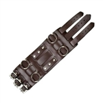 Brown Leather Wide Watchband: 3 Straps