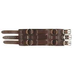 Brown Wide Leather Watch Band: 70's Style