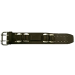 Mens Leather Biker Watch Band: American Made