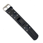 Plain Leather Biker Watch Band: Biker Style