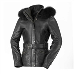 Whet Blu Sheepskin Leather fashion jacket fox fur hood