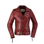 Whet Blu  Lambskin Oxblood Leather Jacket