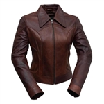 Whet Blu Lambskin Leather Jacket w/ Collar