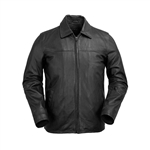WhetBlu Mens Leather James Dean Jacket
