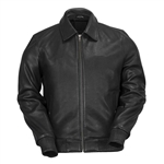 WhetBlu Mens Leather Bomber Jacket