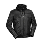 WhetBlu Mens Leather Casual Jacket