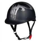 Worlds Smallest DOT Helmets: Punisher Skull Polo Matte Black