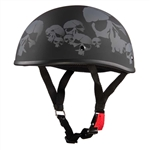 Worlds Smallest DOT Helmets: Matte Black Skull Beanie