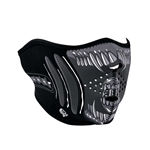 Chrome Alien Motorcycle Face Mask