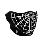 Spider Web Half Motorcycle Face Mask