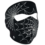 Glow In The Dark Motorcycle Face Mask: Spider Webs