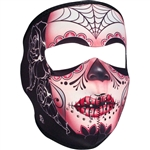 Sugar Skull Motorcycle Ladies Face Mask