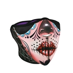 Sugar Skull Motorcycle Face Mask