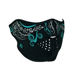 Ladies Motorcycle Face Mask: Glow in the Dark