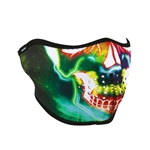 Neon Skull Half Motorcycle Face Mask