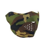 Green Camo Motorcycle Face Mask